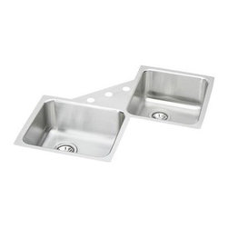 Elkay - Avado Lustertone Undermount Sink - ELUH3232 - Manufacturer SKU: ELUH3232. Material: Stainless SteelFaucet Holes: 0Thickness: 18 GaugeInstallation Type: Corner, UndermountCode Compliance: IAPMOSound Deadening: Sound Guard�Number of Bowls: 2Minimum Cabinet Size: 36 in.Sink Dimensions: 32 in. L x 32 in. WPrimary Bowl Depth: 7 7/8 in.Bowl Dim.: 16 in. x 13 1/2 in. x 7 7/8 in.Bowl Dim.: 16 in. x 13 1/2 in. x 7 7/8 in.Drain Size: 3 1/2 in., 3 1/2 in.