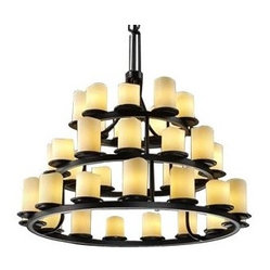 CandleAria Dakota Three-Tier Ring Chandelier