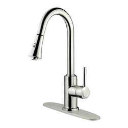 LessCare - Brushed Nickel Finish Pull-Down Kitchen Faucet LK11B, 1 hole / 3 holes - *Country/Region of Manufacture: China
