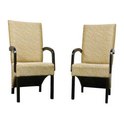 Pair of Custom Designed Chairs - We could see these two statement-making chairs flanking a console and taking your foyer straight to the fabulous category. Design Plus San Francisco custom designed these contemporary beauties.
