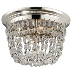 ceiling lights > SMALL PARIS FLEA MARKET FLUSH MOUNT WITH SEEDED GLASS TRIM