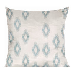Vintage Maya - Bukhara Ikat Pillow Cover - A tantalizing ikat patterned pillow will instantly update your room. Pair it with solid colored pillows for a standout effect, or let it sit solo and work its gorgeous magic on your furniture.