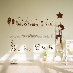 Kids Room Wall Decals - Small And White Clear And Bright You Look Happy To Meet Me Wall Decals--walldecalmall.com