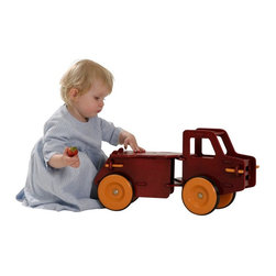 Haba - Haba Moover Dump Truck Riding Push Toy - 1008883 - Shop for Tricycles and Riding Toys from Hayneedle.com! Winner of a Parent's Choice award the Haba Moover Dump Truck Riding Push Toy is solidly crafted with an exceptional design that enables little ones to scoot and ride. They'll get some early practice with turning and backing a trailer what a workout for the body and mind! Since toting treasures is very important to the little people there's cargo space under the seat to hold small toys. Since it's crafted of sustainably sourced wood and safe TPE rubber environmentally conscious parents can approve. The unique click key system for quick assembly and disassembly makes it a breeze to take this truck apart when it's time to travel or for compact storage. Ideal for children ages 1 to 3 years.About HABAIn 1938 HABA began manufacturing finely polished wooden toys in Germany. Today these blocks and toys are still an important part of the HABA product line but the company has expanded to produce a wider variety of inventive playthings for inquisitive minds. From games and jewelry to tableware and rugs HABA products are known for innovative design and attention to detail. HABA toys support children's development and foster the spirit of discovery. HABA products undergo rigorous testing under European guidelines. They've won numerous Children's Game of the Year awards and look to continue their legacy of innovative exciting design for kids around the globe.