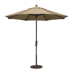 Treasure Garden - Treasure Garden 11 ft. Aluminium Auto Tilt Patio Umbrella - UM8120-5422 - Shop for Patio Umbrellas from Hayneedle.com! Just what your outdoor living room needs. The Treasure Garden 11 ft. Auto Tilt Market Umbrella is a customized shade producer you'll love. Its rustproof aluminum frame and fabric shade come in a variety of color and fabric options so you get the look and durability you need. This umbrella spans an impressive 11 feet and has a simple one-hand crank. Once it's open continue to crank gently and your market umbrella will tilt to shade the sun perfectly. Now you've got it made in the shade!
