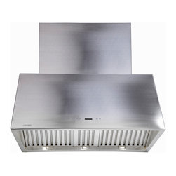 "Cavaliere - Cavaliere-Euro SV218T2 Stainless Steel Wall Mount Range Hood - 42"" - Cavaliere Stainless Steel 218W Wall Mounted Range Hoods with 6 Speeds, Timer Function, LCD Keypad, Stainless Steel Baffle Filters, and Halogen Lights."
