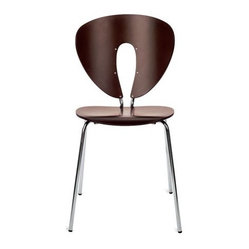 Globus Chair - Wood/Chrome