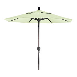 California Umbrella - 7.5 Foot Olefin Aluminum Crank Lift Push Tilt Patio Umbrella, Bronze Pole - California Umbrella, Inc. has been producing high quality patio umbrellas and frames for over 50-years. The California Umbrella trademark is immediately recognized for its standard in engineering and innovation among all brands in the United States. As a leader in the industry, they strive to provide you with products and service that will satisfy even the most demanding consumers.