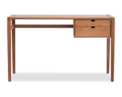Hedge House Furniture - Garfield Desk - With exposed mortise and tenon joinery and a profile from eras gone by, our Garfield Desk will have you wishing you'd sprung for that $10 mechanical pencil and those fancy handblown paperweights.