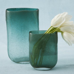 Turquoise Oval Vase: Small - Turquoise Oval Vase - Small