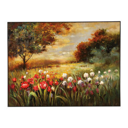 Bassett Mirror - Bassett Mirror Spring Fields Canvas 7300-012EC - Bassett Mirror Spring Fields Canvas 7300-012EC