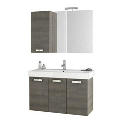 ACF - 40 Inch Grey Oak Bathroom Vanity Set - This vanity is a four piece set made in Italy by ACF.