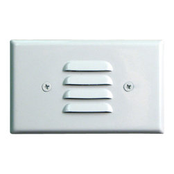 Elco - Elco ELST62 7W Horizontal Incandescent Mini Step Light with Louvered Faceplate - Elco ELST62 7W Horizontal Incandescent Mini Step Light with Louvered FaceplateIncandescent Step Lights are an effective and safe addition to any stepped walkway. Elco's Incandescent Step Lights include galvanized stamped steel housing, powder coating, and are U.L. listed for damp locations.Features:
