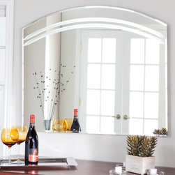 Decor Wonderland - Angel Large Frameless Arched Wall Mirror - 39.5W x 31.5H in. Multicolor - SSM106 - Shop for Bathroom Mirrors from Hayneedle.com! Add a beautiful and contemporary look to your home with the Angel Large Wall Mirror. Easy to match to any decor this mirror has a beveled curved design. Made of durable .19-inch-thick glass and metal with a double coated silver backing and seamed edges this mirror is designed to last. This mirror comes ready to hang and the mounting hardware is included. This mirror only hangs vertically.About Decor Wonderland of USDecor Wonderland US sells a variety of living room and bedroom furniture mirrors lamps home office necessities and decorative accessories. Decor Wonderland strives to add variety to their selection so that every home is beautifully and perfectly decorated to suit their customer's unique tastes.