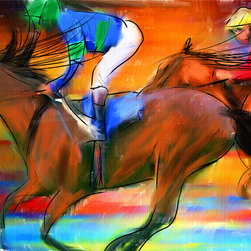 Horse Racing II - Series of Art Pieces About Sports