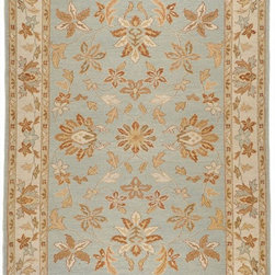 Surya - Traditional Sonoma 4'x6' Rectangle Pale Blue-Tan  Area Rug - The Sonoma area rug Collection offers an affordable assortment of Traditional stylings. Sonoma features a blend of natural Pale Blue-Tan  color. Hand Knotted of 100% New Zealand Wool the Sonoma Collection is an intriguing compliment to any decor.