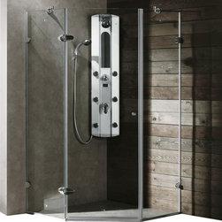 Vigo - Vigo 40 x 40 Frameless Neo-Angle 3/8in.  Clear/Chrome Shower Enclosure - Both dramatic and space-saving, the Vigo frameless neo-angle shower enclosure creates a beautiful focal point for your bathroom.