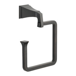Delta Towel Ring - 75146-RB - The clean lines and dramatic geometric forms of the Dryden Bath Collection are based on style cues from the Art Deco period.