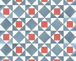 Walls Republic - Red Squared Wallpaper M8835 - Inlay is a mix of simple geometries and softened primary colours. This wallpaper mural is digitally printed for a realistic tiled look. Use it in your living room or kitchen for a strong feature and sense of depth.