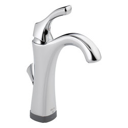 Delta - Delta 592T-DST Single-Handle Lavatory Faucet with Touch2O.XT (Chrome) - Delta 592T-DST Addison Collection features delicate and graceful curves inspired by the shapes from a sea shell. The Delta 592T-DST is a one handle Lavatory Faucet in Chrome With With Touch20Xt Technologynology.