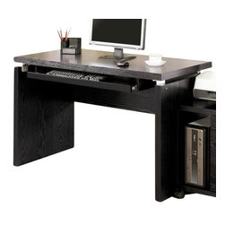"Coaster - Computer Desk (Black) By Coaster - Pull out keyboard tray. Clean lines and enhanced functionality. Wide desk surface. Contemporary style. Simple metal accent hardware. Made from wood. 47.25 "" W x 25.38 "" D x 30.75 "" H."