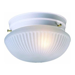 DHI-Corp - Millbridge 2-Light Ceiling Mount, Textured White - The Design House 507350 Millbridge 2-Light Ceiling Mount has clean details for a classic accent to your home. White finished formed steel frame and frosted swirl glass are sophisticated and stylish. This 2-light ceiling mount uses (2) 60-watt medium base incandescent bulbs. As one of the most popular styles of light fixtures, ceiling mounts are suited for any room in the house as they hang close to the ceiling with a classic half-moon shape. Measuring 5.75-inches (H) by 9.25-inches (W), this ceiling mount will add a subtle glow to any room in your home. This ceiling mount is cUL, UL listed and rated for 120-volts. Coordinate your home with the rest of the Millbridge collection which features a beautiful matching chandelier, wall mount, vanity and pendant. The Design House 507350 Millbridge 2-Light Ceiling Mount comes with a 10-year limited warranty that protects against defects in materials and workmanship. Design House offers products in multiple home decor Categories including lighting, ceiling fans, hardware and plumbing products. With years of hands-on experience, Design House understands every aspect of the home decor industry, and devotes itself to providing quality products across the home decor spectrum. Providing value to their customers, Design House uses industry leading merchandising solutions and innovative programs. Design House is committed to providing high quality products for your home improvement projects.