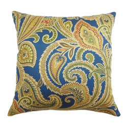 Pillow Collection - The Pillow Collection Ebadon Paisley Pillow - Jewel Multicolor - P18-42073-JEWEL - Shop for Pillows from Hayneedle.com! Like a sparkling faceted gem The Pillow Collection Ebadon Paisley Pillow - Jewel is the perfect centerpiece to your design. Made of 100% high-quality cotton this elegant square pillow features a plush 95/5 feather/down insert for ultra softness. The bright and colorful paisley print adds a cheery traditional touch to your home.About The Pillow CollectionIdentical twin brothers Adam and Kyle started The Pillow Collection with a simple objective. They wanted to create an extensive selection of beautiful and affordable throw pillows. Their father is a renowned interior designer and they developed a deep appreciation of style from him. They hand select all fabrics to find the perfect cottons linens damasks and silks in a variety of colors patterns and designs. Standard features include hidden full-length zippers and luxurious high polyester fiber or down blended inserts. At The Pillow Collection they know that a throw pillow makes a room.
