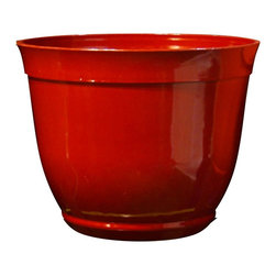 Alpine Fountains - Large 15 in. Bowl Planter in Red - Made of Plastic. 1 Year Limited Warranty. Assembly Required. Overall Dimensions: 15 in. L x 15 in. W x 11 in. H (2.2 lbs)These bowl planters are perfect for patios and decks.  Available in a variety of sizes and colors they can meet any need, or taste and are very durable.