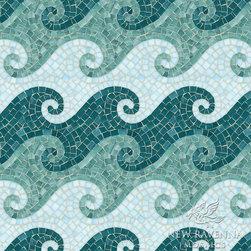 Tethys Jewel Glass Mosaic - Tethys, a hand cut jewel glass mosaic.