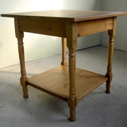 Large Square Game Table From Old Pine - Made by http://www.ecustomfinishes.com