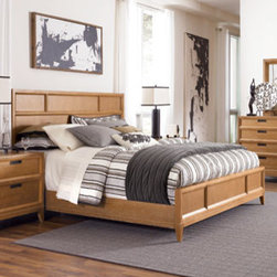 American Drew 081-316R Sedona Panel Bed 6/6 - 081-316R Panel Bed 6/6 from Sedona by American DrewWt. 195 Cubes 24.9Consists Of:316 PANEL HEADBOARD 6/0-6/6W79 D3 H54 Wt. 84 Cubes 15.9BORED FOR FRAME 317 PANEL FOOTBOARD 6/0-6/6W79 D3 H18Wt. 42 Cubes 6.0R42 WOODEN RAILS 5/0-6/6W82 D2 H8 Wt. 46 Cubes 2.6SK1 MATTRESS SUPPORT SYSTEMWt. 23 Cubes 0.4
