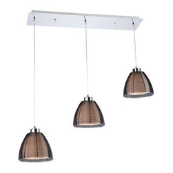 ArtCraft - ArtCraft-AC313BK-San Jose - Three Light Island - The San Jose collection features individually hand weaved black finished wiring, and suspended on aircraft cable with a chrome canopy.