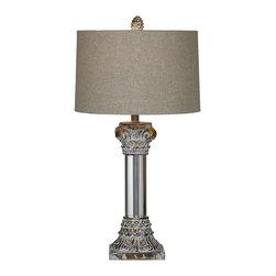 Bassett Mirror - Bassett Mirror Corinth Table Lamp L2506TEC - Bassett Mirror Corinth Table Lamp L2506TEC