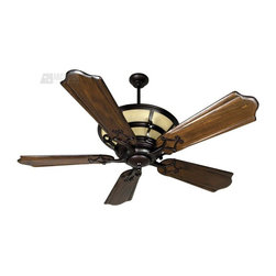 "Craftmade - Craftmade HA52OB Hathaway 52"" Traditional Ceiling Fan - Unifying a traditional feel with streamlined 20th century sensibility, Hathaway offers illuminated windows and the soft glow of an uplight."