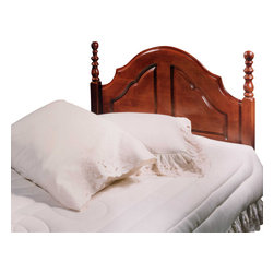 Hillsdale Furniture - Hillsdale Cheryl Panel Headboard with Rails - Full/Queen - The combination of heavy duty legs, classic center panel and warm cherry finished hard wood makes the Cheryl headboard the perfect addition to any bedroom.