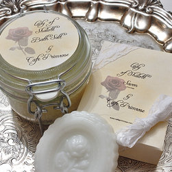 Literature Inspired Fragrances for Bath and Body - Lady Of Shalott Bath Salt and Soap Set