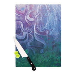 "Kess InHouse - Mat Miller ""Electric Dreams II"" Cutting Board (11"" x 7.5"") - These sturdy tempered glass cutting boards will make everything you chop look like a Dutch painting. Perfect the art of cooking with your KESS InHouse unique art cutting board. Go for patterns or painted, either way this non-skid, dishwasher safe cutting board is perfect for preparing any artistic dinner or serving. Cut, chop, serve or frame, all of these unique cutting boards are gorgeous."