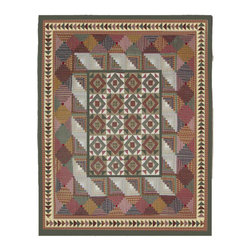 Patch Quilts - Country Roads Quilt King 105 x 95 - - Intricate  patchwork and beautiful hand quilting.Bedding ensemble from Patch Magic  - The Name for the finest quality quilts and accessories  - Machine washable.Line or Flat dry only Patch Quilts - QKCROA