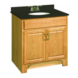 "DHI-Corp - Richland Nutmeg Oak Vanity Cabinet with 2-Doors, 30"" by 21"" - The Design House 530394 Richland Nutmeg Oak Vanity Cabinet features a nutmeg oak finish with a water resistant seal. This product has a rustic shabby chic design, meshing modern construction with vintage aesthetics. With solid wood door frames, this 2-door vanity measures 30-inches by 21-inches by 33.5-inches and is built to withstand years of repeated use. With a country living motif, this vanity graces your home with its bright finish and clean lines. This product is CARB compliant, which means it adheres to the toughest production standards in the world for formaldehyde emissions (in wood composite paneling). The Design House 530394 Richland Nutmeg Oak Vanity Cabinet has a 1-year limited warranty that protects against defects in materials and workmanship. Design House offers products in multiple home decor categories including lighting, ceiling fans, hardware and plumbing products. With years of hands-on experience, Design House understands every aspect of the home decor industry, and devotes itself to providing quality products across the home decor spectrum. Providing value to their customers, Design House uses industry leading merchandising solutions and innovative programs. Design House is committed to providing high quality products for your home improvement projects."