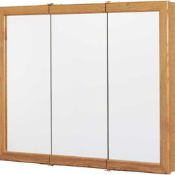 "RSI HOME PRODUCTS - Oak 36"" Triview Medicine Cabinet - Oak 36"" triview medicine cabinet with 2 ..."