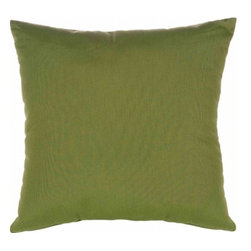 """Sunbrella® 24""""x24"""" Square Designer Pillow, Canvas Turf - Making the best relaxation that much better! Soft. Plush. Vibrant. Attractive. Durable. Colorfast. These designer throw pillows promise lasting outdoor comfort you won't want to take your eyes or head off of! The stylish 24""""x24"""" Sunbrella® Canvas Turf Square Designer Pillow is sure to liven up any backyard and to provide instant comfort for relaxation. Perfect for hammocks, benches, chairs, sofas, futons, chaise lounges, and more."""