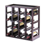 Winsomewood - Kingston Stackable Slot Cube, 16-bottle Wine Cube - Storage is designed to stand alone or as a modular piece that is also stackable. This slot design holds 16 bottles is made of sturdy wood with espresso finish