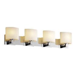 Justice Design Group - Justice Design Group FSN-8924-30-OPAL Modular 4 Light Bathroom Vanity Light from - Features:
