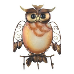 GSC - 12.25 Inch Brown Owl with Black Eyes Wall Decor with Hangers - This gorgeous 12.25 Inch Brown Owl with Black Eyes Wall Decor with Hangers has the finest details and highest quality you will find anywhere! 12.25 Inch Brown Owl with Black Eyes Wall Decor with Hangers is truly remarkable.