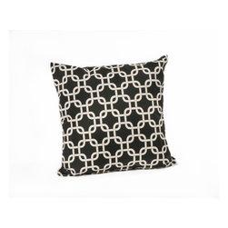 """HRH Designs - 20""""x20"""" Indoor/Outdoor Throw Pillow, Black - 20""""x20"""" indoor/outdoor links throw pillow."""
