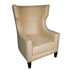 NOIR - NOIR Furniture - Berne Single Chair in Hand Rubbed Black -SOF127HB - Features: