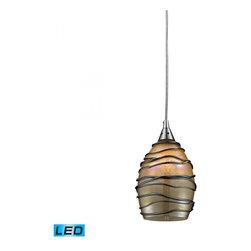 ELK Lighting - One Light Satin Nickel Down Pendant - One Light Satin Nickel Down Pendant