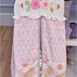 Nurture - Nurture Garden District Diaper Stacker - 109200 - Shop for Diaper Stackers from Hayneedle.com! Flower blossoms adorn the top of this convenient & charming Nurture Garden District Diaper Stacker making changing time a little more pleasant. This stacker is crafted using 100% cotton and trimmed in textured gray jacquard with two floral print pockets on the front. It hangs conveniently using a standard coat hanger.About Nurture Imagination: Based in California Nurture Imagination creates collaborative relationships with artists designer and product innovators to bring a diverse mix of imaginative products to parents and children. This thoughtfully chosen array of products and features can be seen in their many nursery collections or just in the way they approach the needs of children and the parents who never get tired of caring for them.