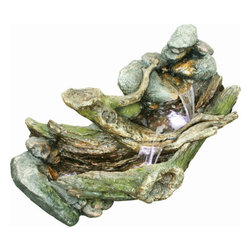 """Yosemite - Yosemite CW09005 21"""" Babbling Brook Indoor Floor Fountain - Yosemite CW09005 21"""" Babbling Brook Indoor Floor FountainThis smooth and polished granite fountain takes the shape of two intertwined swans with the central focus on the bubbling fountain between them. The use of LED lighting helps to accent the fountain as well. Yosemite CW09005 Features:"""