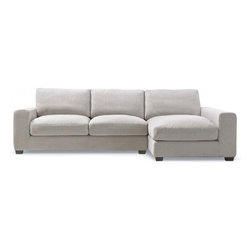 Kelley Fabric Sectional Sofa - The Kelley sectional sofa embodies exceptional comfort and high-style detailing. It can be customized at different sizes, cushion softness, and 50+ fabrics.